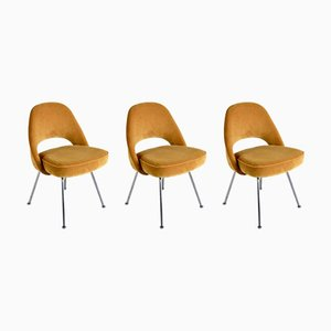 Chaises No. 72 par Eero Saarinen pour Knoll International, 1950s, Set de 3