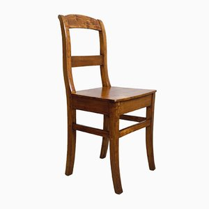 Antique German Ash Dining Chairs, Set of 4