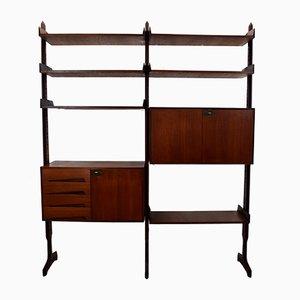 Italienisches modulares Bücherregal aus Teakholz von Edmondo Palutari für Dassi, 1950er