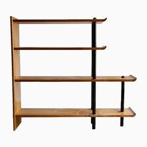 Mid-Century Dutch Wooden Shelving Unit, 1960s
