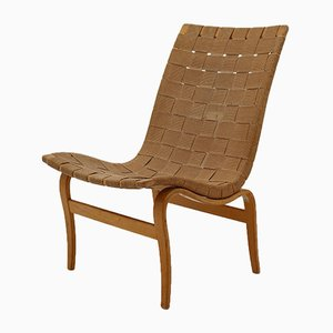 Scandinavian Eva Easy Chairs by Bruno Mathsson for Firma Karl Mathsson, 1944, Set of 2