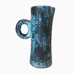 Jarra de cerámica de Jacques Blin, años 50