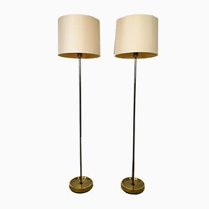 Vintage Swedish Brass Floor Lamps from Fagerhult Sweden, 1960s, Set of 2