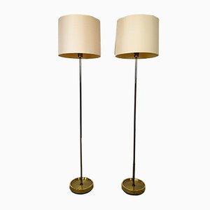 Vintage Swedish Brass Floor Lamps from Fagerhult Sweden, 1960s, Set of 2