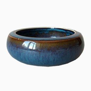 Kleine schwedische Mid-Century Keramikschale in Blau von Carl-Harry Stålhane für Rörstrand