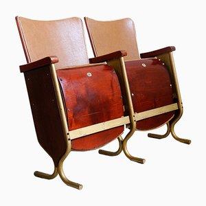 Art Deco 2-Sitzer Kinobank, 1920er