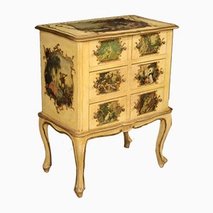 Antique Style Italian Lacquered & Gilded Wooden Dresser, 1960s