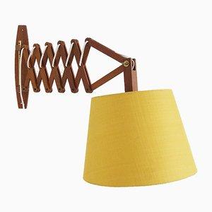 Lampe Ciseaux Mid-Century en Teck