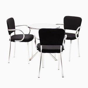 Mesa y 3 sillas de F.A. Porsche para Ycami, años 90