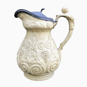 Antique English Pitcher from W. Ridgeway & Co. Pottery, 1840s