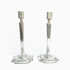 Art Deco Dutch Candle Holders, Set of 2