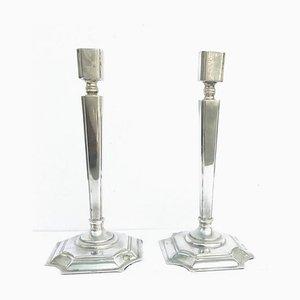 Niederländische Art Deco Kerzenständer, 2er Set