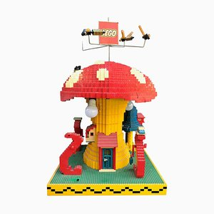 Vintage Lego Advertising Store Display Mushroom Lamp, 1970s