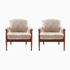 Swedish Skrindan Lounge Chairs by Kerstin Hörlin-Holmquist for OPE, 1960s, Set of 2