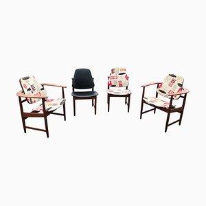 Dänische Mid-Century Stühle aus Teak von Arne Hovmand Olsen, 4er Set
