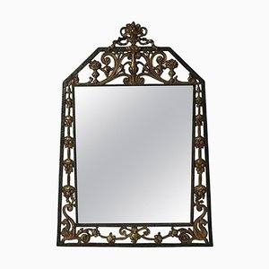 Arts & Crafts Parlor Mirror by Oscar Bach, 1920s