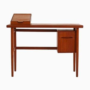Danish Teak Desk or Vanity Table by Kurt Østervig, 1950s
