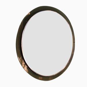 Italian Round Mirror from Crystal Art, 1960