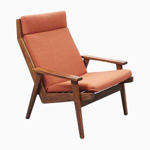 Mid-Century Teak Lotus Lounge Chair by Rob Parry, 1960s