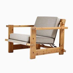 Skandinavische Sessel aus Kiefernholz, 1970er, 2er Set