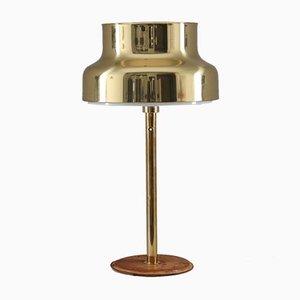 Lámparas de mesa Bumling de latón y cuero de Anders Pehrson para Ateljé Lyktan, años 60. Juego de 2