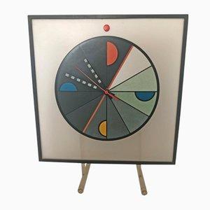 Memphis Table Clock by Kurt Delbanco for Morphos, 1980s