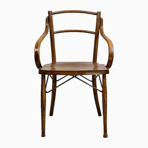 Antique Art Nouveau French Bentwood Dining Chair, 1910s