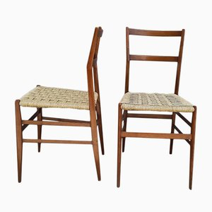 Pagwood Dining Chairs by Gio Ponti for Cassina, 1950s, Set of 2