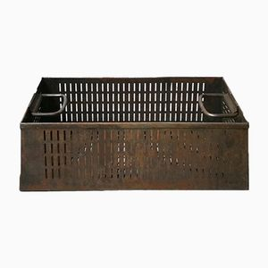 Deutsche Mid-Century Gitterbox aus Metall mit Griffen, 1960er