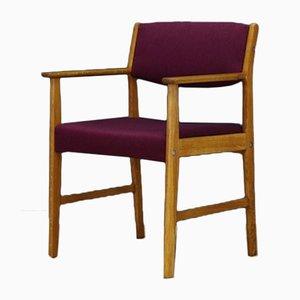 Mid-Century Danish Fabric and Ash Desk Chair, 1960s