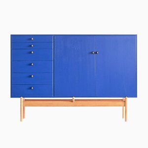 Oak & Brass Cabinet by Tove & Edvard Kindt-Larsen for Säffle Möbelfabrik, 1960s