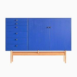 Schrank aus Eiche & Messing von Tove & Edvard Kindt-Larsen für Säffle Möbelfabrik, 1960er