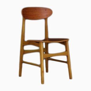 Mid-Century Danish Teak Side Chairs, 1960s, Set of 2
