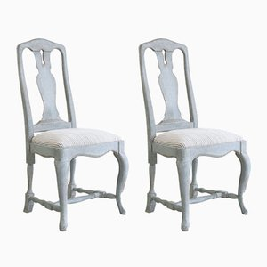 Vintage Swedish Baroque Style Chairs, Set of 2
