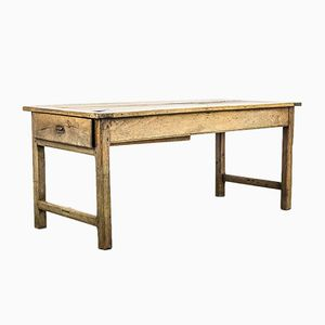 Antique Rustic French Wooden Dining Table