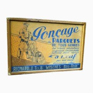 Cartel publicitario vintage