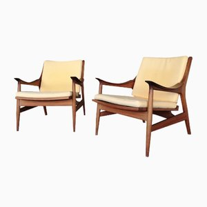 Scandinavian Modern Style Teak Lounge Chairs, 1960s, Set of 2