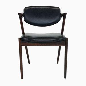Dänische M42 Esszimmerstühle aus Palisander von Kai Kristiansen für Schou Andersen, 1960er, 2er Set