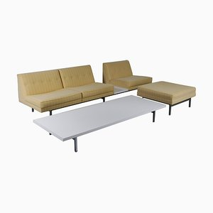 Juego de sofá, otomana y mesa de centro de George Nelson para Herman Miller, años 60