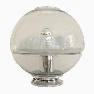 Lámpara vintage en forma de globo de cristal de Murano