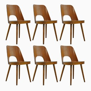 Beech Dining Chairs by Oswald Haerdtl for Thonet, 1955, Set of 6