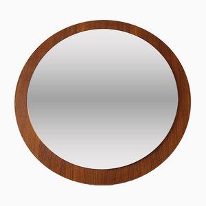 Large Round Teak Mirror, 1960s