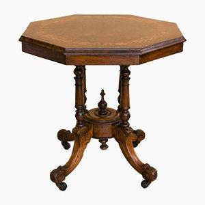 Antique Victorian Walnut Center Table