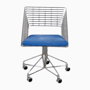 Stuhl aus verchromtem Draht von Verner Panton für Fritz Hansen, 1980er