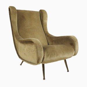 Mid-Century Sessel aus Velours, 1960er