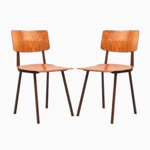 Beech & Oak Side Chair, 1960s