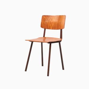 Beech & Oak Side Chair, 1960s