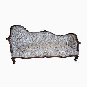 Canapé Antique en Palissandre et Tapisserie d'Ameublement
