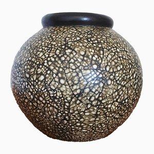 Jarrón en forma de huevo de cerámica de Jacques Adnet, años 30