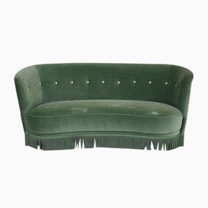 Mid-Century Green Sofa, 1960s